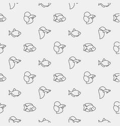 aquarium fish pattern vector image