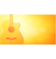 backtound with warm orange color and vector image