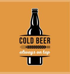 beer advertising cold beer always on tap vector image