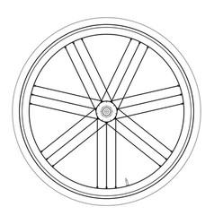 bike wheel - on white backgrou vector image