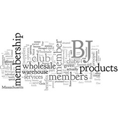 Bj s wholesale the club that helps to save money vector