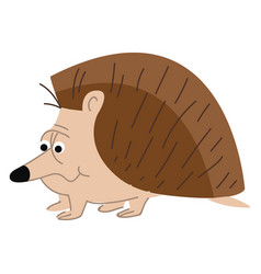 Cartoon a big nosed spiny animal known as vector