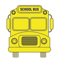colorful school bus graphic vector image