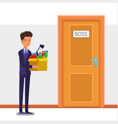 concept welcome to new job vector image