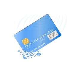 Crashed credit card vector image