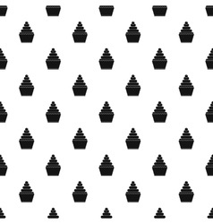 Cupcake pattern simple style vector image