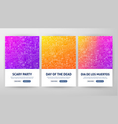 dia de los muertos flyer concepts vector image