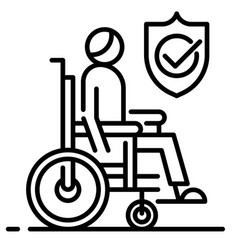 Disability insurance line vector