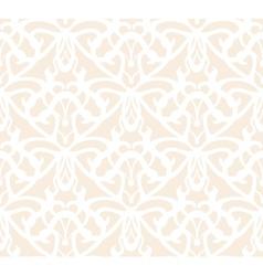 Elaborate white vintage seamless pattern on beige vector