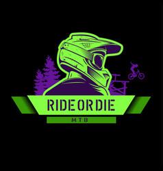Extreme sport green tshirt print logo template vector