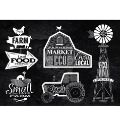 Farm vintage chalk vector image