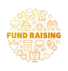 fund raising round creative linear vector image