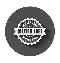 Gluten free grunge rubber stamp with long shadow vector