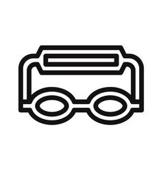goggles icon vector image