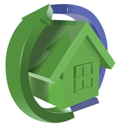 green house with arrows vector image