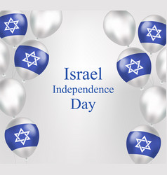 Happy israel independence day greeting card in vector