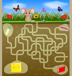 Help the mouse to find the cheese vector
