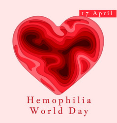hemophilia world day poster emblem medical sign vector image