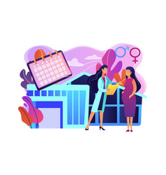 Maternity services concept vector