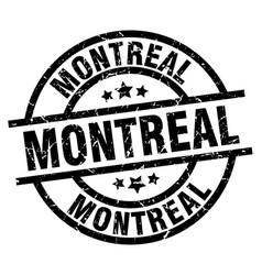 Montreal black round grunge stamp vector