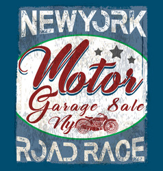 motorcycle vintage logo emblem t shirt design vector image