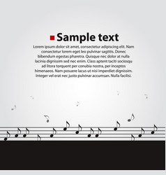 musical dark background vector image
