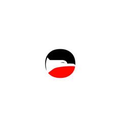 o letter eagle logo vector image