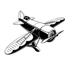 old sport plane vector image
