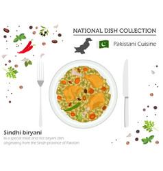 Pakistani cuisine asian national dish collection vector