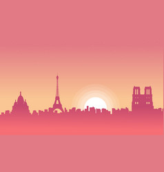 Paris scenery at morning vector