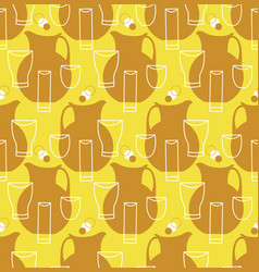pitchers and cups seamless pattern vector image