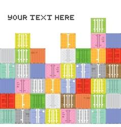 Pixel art container stack vector image