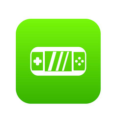 portable video game console icon digital green vector image