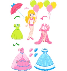Princess doll vector image
