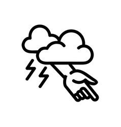 Punished hand god icon outline vector