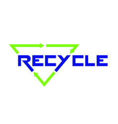 recycle emblem on white background vector image