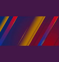 Red yellow and blue geometric background design vector