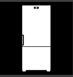 Refrigerator it is the white color icon vector