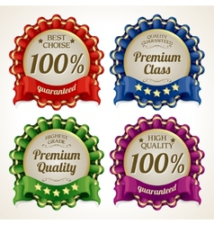 Ribbon labels set vector image