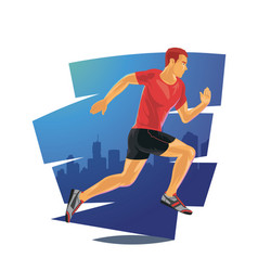 running man in detailed vector image