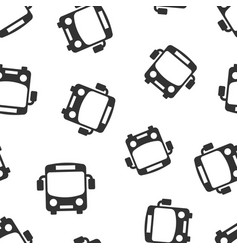 school bus icon seamless pattern background vector image