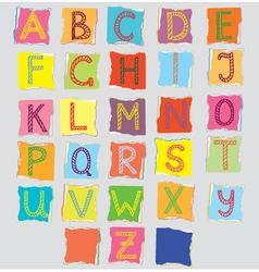 Scrapbook letters vector
