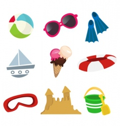 sea icons vector image