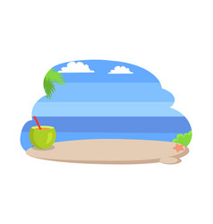 seaside with clear blue sky vector image