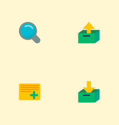 set of management icons flat style symbols with vector image