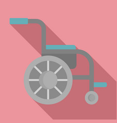 Side view wheelchair icon flat style vector