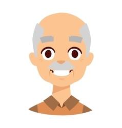 Smiling grandpa vector image