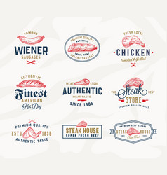 steak house or meat store typography labels vector image