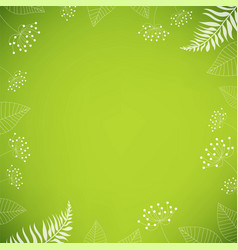 Summer poster with flowers and grass vector