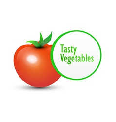 Tasty Tomato and Label vector image